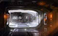 Halo 4 - space station interior. 2011 microsoft - 343 industries.