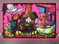 Original Vtg 1973 Black Light Velvet THE AMERICAN WAY Poster Political Spoof  #BlackLight