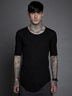 Boris Bidjan Saberi | Cotton/Cashmere Basic T-Shirt.