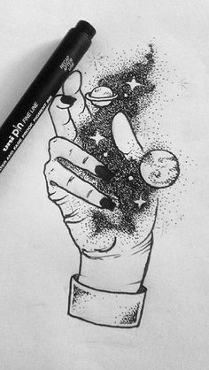Pin by marissa deshon on ink ideas Cool Drawings, Tattoo Drawings, Pencil Drawings, Tattoos, Space Drawings, Poses References, Desenho Tattoo, Pen Art, Aesthetic Art