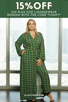 """Enjoy elegant Plus-Size Loungewear for Your Coziest WFH 'Fit Yet. Find the most stylish and comfortable clothes for a day or night in, including plus size lingerie gowns, Kimono Robes, Kaftans and pants sets. Shop cozy loungewear & redeem 15% OFF all products using the code """"COMFY"""" Curvy Girl Lingerie, Plus Size Lingerie, African Style, African Fashion, Lingerie Gown, Comfortable Clothes, African Print Dresses, Kaftans, Kimono Fashion"""