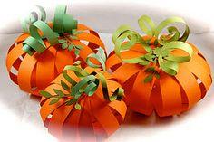 cute and fun paper pumpkins to make.