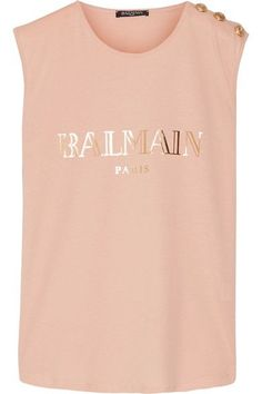 Blush and gold cotton-jersey Slips on 100% cotton Dry clean Imported