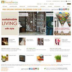 Eco friendly living and design website.