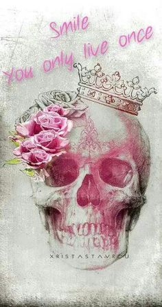 The yolo ruins this, but I love the skull