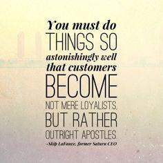 Create apostles, not just loyalists!