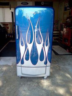 """Restored 1950 Coldspot """"hot rod"""" Refridgerator"""