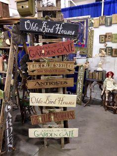 Stencil sign display, primitive display, prim stencils, garden stencil, spring stencil,