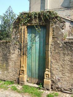 Grüne Tür in Sierck les Bains  Lothringen - Lorraine