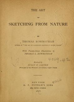The Art of Sketching From Nature. Online Open Book.