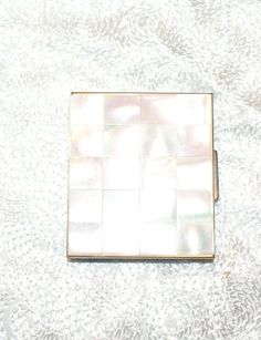 Vintage Mother of Pearl Compact by RenderMeSpeechless on Etsy