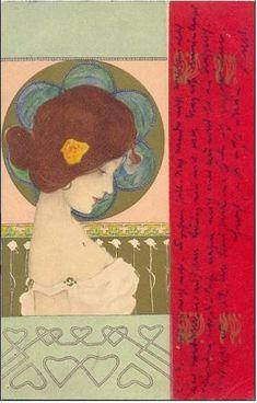 Art Nouveau Postcard ~ Circa 1906