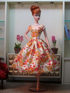 Rockabilly Dress in Summer Garden by Bellissimacouture on Etsy