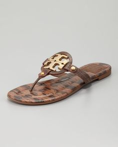 Snake-Print Thong Sandal, Park Bench by Tory Burch at Neiman Marcus. Oh Yes this is my 2013 summer Sandal!  Woo Hoo!
