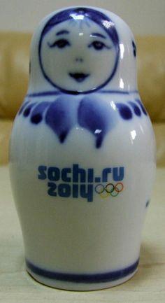 New. Sochi 2014 Olympics Official Matroshka Doll. Porcelain