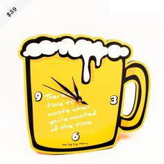 Beer mug clock