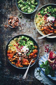Moroccan Aubergine & Chickpea Stew
