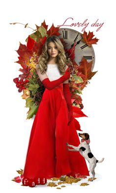 """""""The Reds of Fall"""" by likepolyfathion ❤ liked on Polyvore featuring art, dollset and artset"""