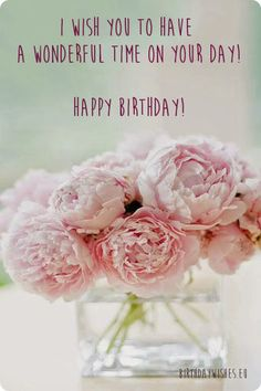 birthday ecard with peonies