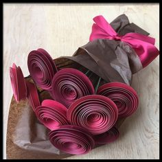 Red Paper Flower Bouquet First Anniversary Flowers ** Want additional info? Click on the image.