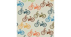 Pattern of variously colored bicycles