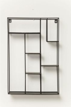Wandrek Geometrix - rechthoek - Zwart - 60x40x10 - Kare - 39€ - Design