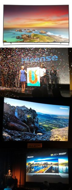 The 65-inch Hisense 4K ULED H10 Series Curved Smart TV unveiled in New York this week has the specs to challenge Samsung's flagship SUHD curved 4K TV line, but at a lower price. The $3,000 @hisenseusa unit features a gently curved 120Hz, 3,840-by-2,160-pixel display (8.3 million pixels), an audio system tweaked by Massachusetts-based dbx-tv and local dimming technology which enhances blacks. Read more in today's @nydailynews. #ULED