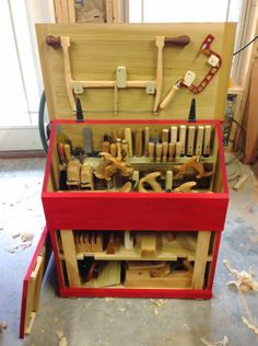 Dutch Chest and tools - Caleb James, planemaker