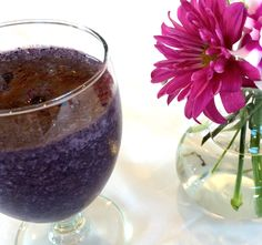Walk on the Wild Side Choco-Blueberry Smoothie by Sarah-Jane Bedwell