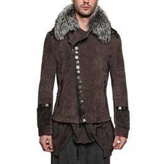 Tom Rebl - Fuchs Fell Washed Nubuck Leder Jacke