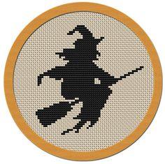 Halloween Witch cross stitch pattern PDF file by Atinyshop on Etsy