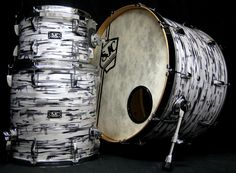 Zac Hanson's custom oyster print SJC Drum kit.  Watch Drum Heads Wednesday night at 9/8c! www.drumheads.tv