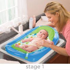 41,60€ - Summer Infant 09156 Sparkle and Splash crece con bañera para recién nacido al niño, azul