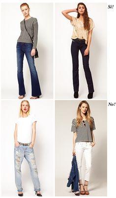 Consejos para elegir prendas según tipo de cuerpo: pantalones que más favorecen a una figura con piernas cortas. lo que Si o No se puede usar