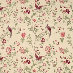 Summer Palace Cranberry Fabric