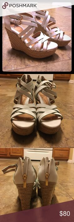 Sofft Leather Upper Wedges Brand new. Never worn. Designed Wedges Sofft Shoes Wedges