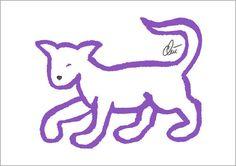 JACQUELINE DITT - Lavender Cat Orig.Grafik handsigniert Bild Druck Katze Tier