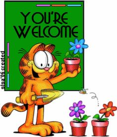 Your welcome Garfield. You Are Welcome Images, Welcome Pictures, Thank You Images, Thank You Quotes, Welcome Quotes, You're Welcome, Welcome To The Group, Welcome To My Page, Thanks Gif