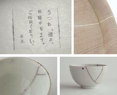 Kintsugi - 'golden seams' repair work