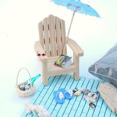 Miniature Beach Set with Adirondack, Custom Brick Patio, Refreshments, and More…