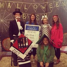 59 Halloween Costumes Inspired by Your Favorite Things Office Group Halloween Costumes, Halloween City, Halloween 2016, Halloween Outfits, Holidays Halloween, Halloween Treats, Monopoly Themed Parties, Monopoly Party, Game Costumes