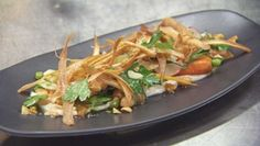 Baby Carrot, Crispy Parsnip and Honey Macadamia Salad