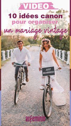 Tentés par le thème vintage pour votre mariage ? Découvrez toutes nos idées canon pour succomber sur #aufeminin. #mariage #mariagevintage #mariagerétro #idéesmariage #organisationmariage #thèmemariage Marie, Bicycle, Canon, Voici, Inspiration, Vintage Crockery, Biblical Inspiration, Bike, Bicycle Kick