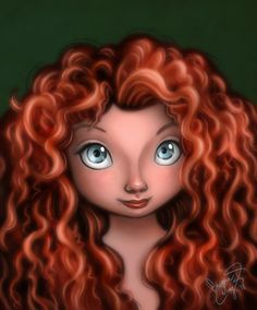 This is a fan art of Merida on Brave. I've watched the movie with a friend last thursday, and it was so worth the money It was very heart warming and Merida is so cute that i decided to draw her &l. Film Disney, Disney Artwork, Disney Nerd, Disney Fan Art, Disney Girls, Disney Magic, Disney Movies, Disney Pixar, Disney Characters