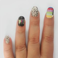 Rad - TV Set nail patches