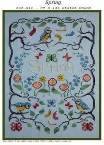 complete a large cross stitch   (not necessarily this one...) This is: Spring - Cross Stitch Pattern