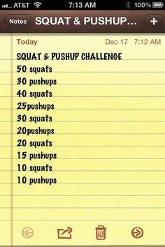 Squat and PushUp Challenge