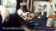 In the shop . my 1st attempt at a #shopvlog #knifemaking #metalworking #evaderknives