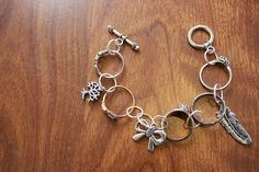 DIY Ring Charm Bracelet
