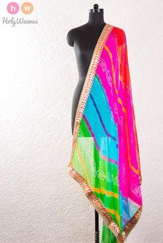 #Multi #color #Georgette #Bandhani #Dupatta #HolyWeaves